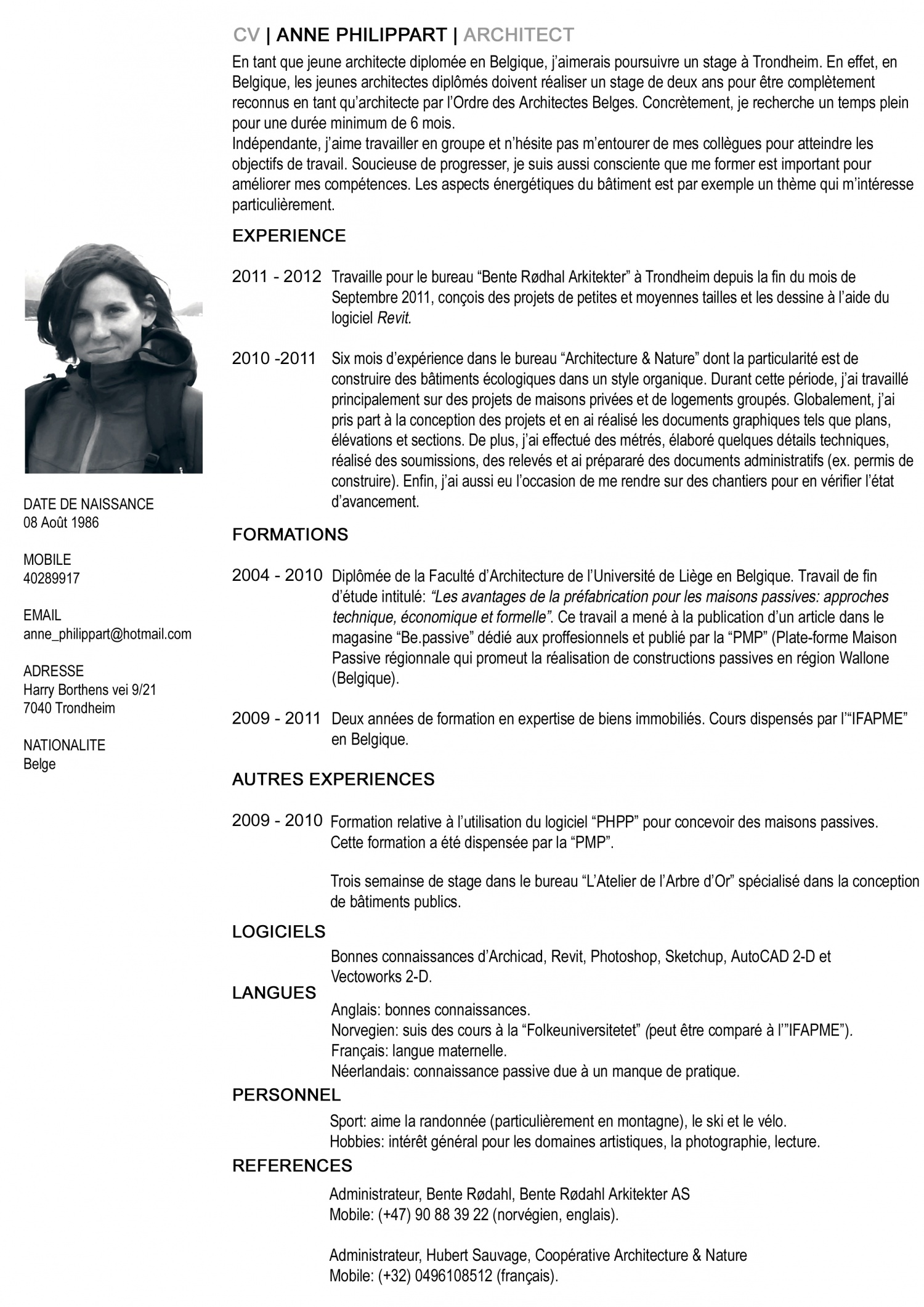 pin cv francais exemples exemple de curriculum vitae on