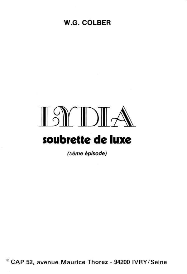 Lydia soubrette de luxe 3