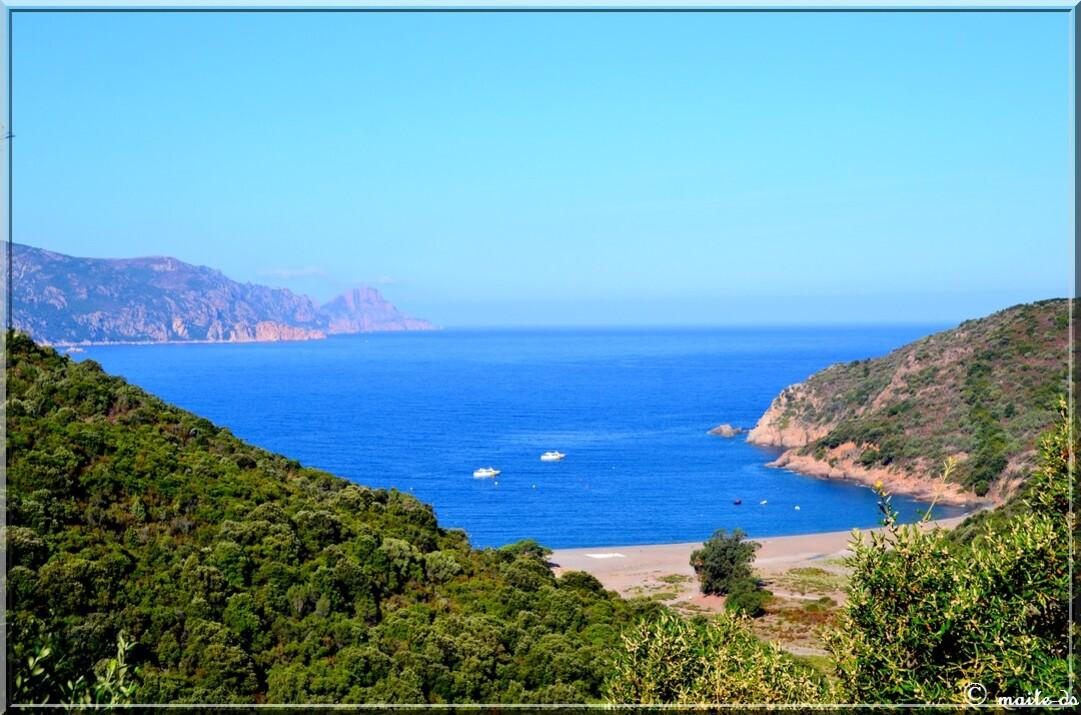 Plage de Bussaglia Corse du Sud