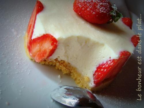 Cheesecake citron-fraise