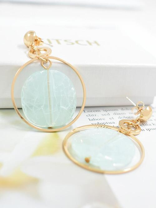 shestar wholesale round marbling chic cutout earrings