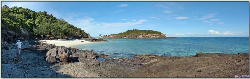 La beauté de la presqu'île de Nosy Tsarabanjina vue des rochers - Archipel des Mitsio - Madagascar