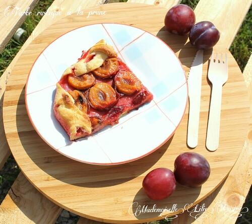 Tarte rustique à la prune