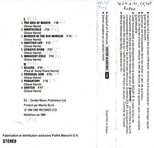 Ajout cassette: Killers