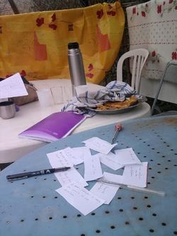 écrire au jardin de Novembre