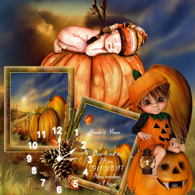 Halloween ET ne pas oubliez heure d'hiver