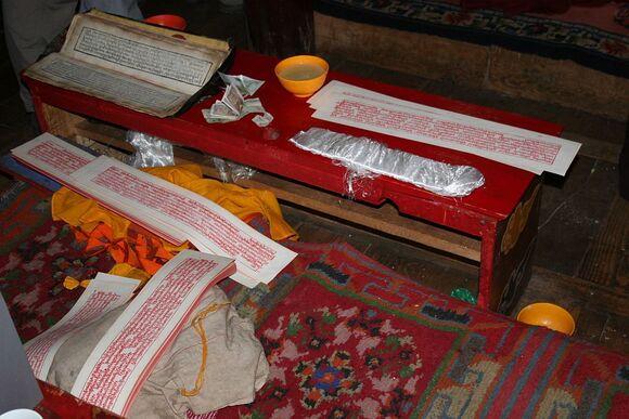 une salle de prière dans un monastère;