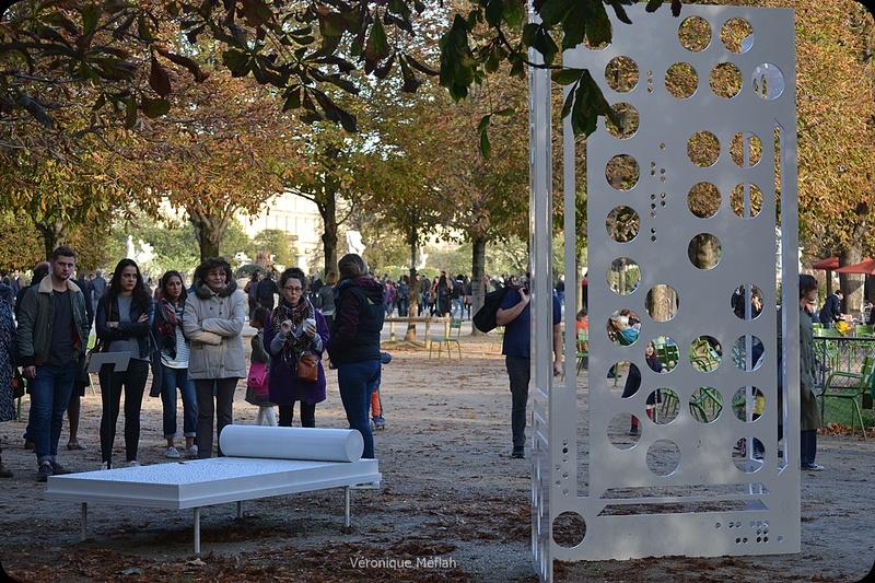 """Jardin des Tuileries : FIAC 2017 : """"Cartographie des Processus"""" de Jean Denant"""