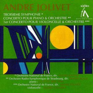 CD de Jolivet «Troisième Symphonie etc.»