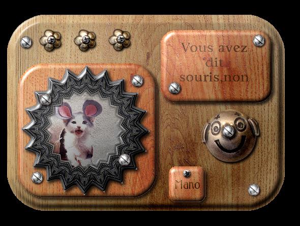 Srap digital pur relief - les animaux - souris