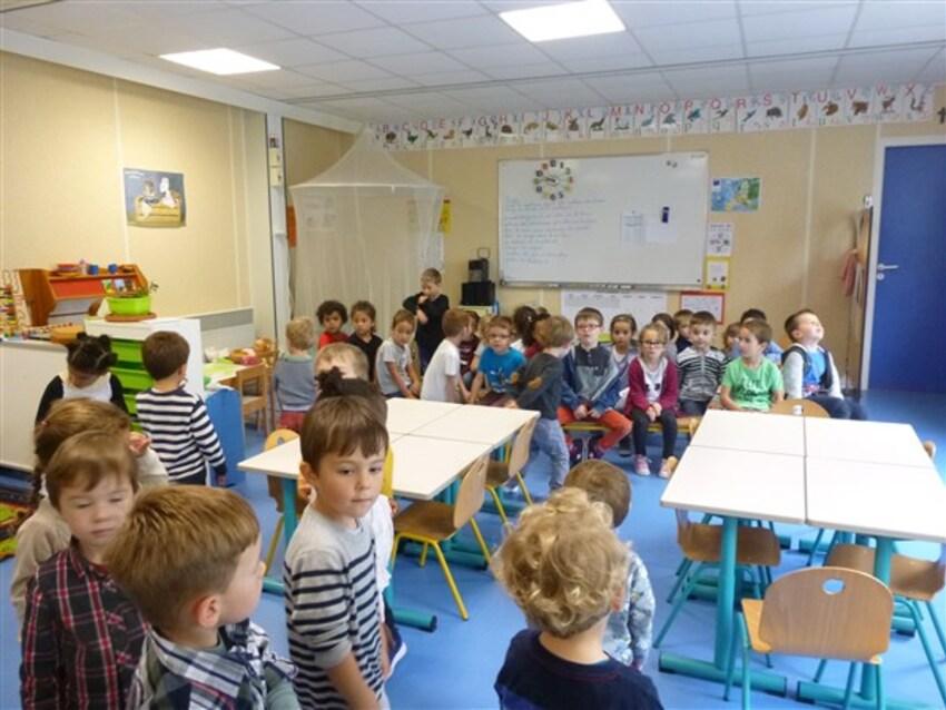 Les TPS - PS visitent l'école.