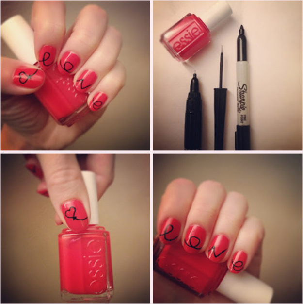 Write on your nails with Sharpie.