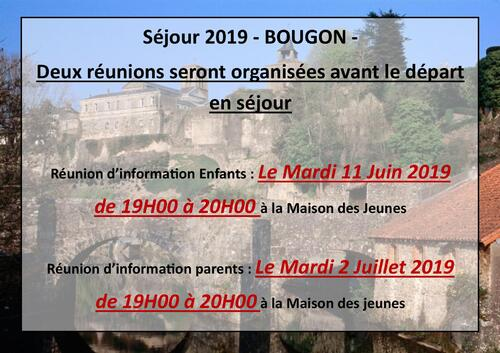Réunion Séjour 2019