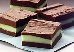 Bonbons étagés chocolat-menthe recette
