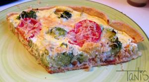 Quiche saumon brocolis et ricotta