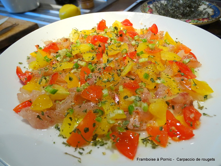 Carpaccio de rougets
