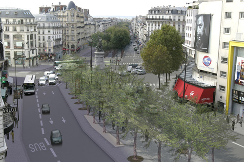Future place de Clichy.