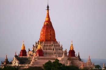 Couché de soleil sur Bagan II, Myanmar