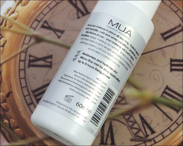 Test du fixateur de maquillage et du pinceau teint MUA