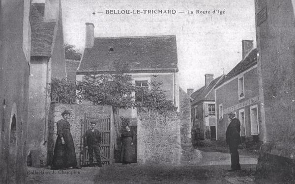 Bellou-le-Trichard, rue de Gevraise vers Igé