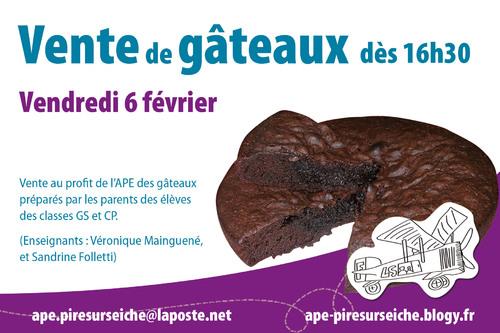 - Vente de gâteaux 06/02/2014