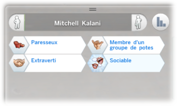 Mitchell Kalani caractère