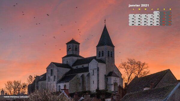 Christian Labeaune a créé un magnifique calendrier pour l'année 2021...