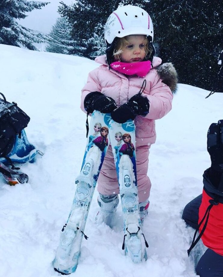 Gabriella au ski