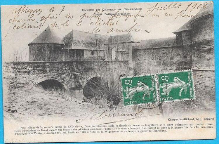 Château de Charbogne (08), ses cartes postales