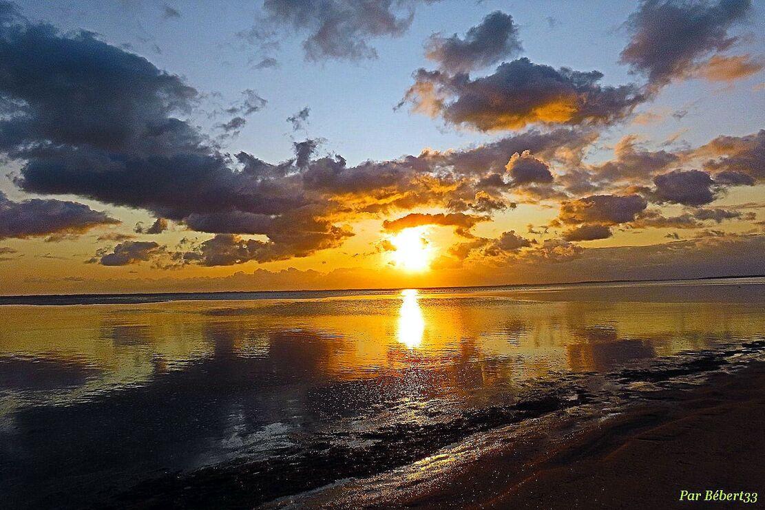 levé de soleil sur l'île d'Oléron
