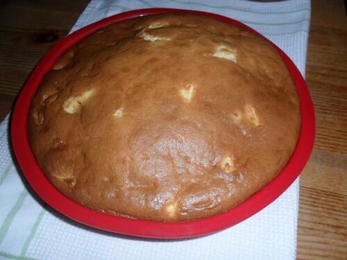 *** Gâteau fondant aux pommes et au mascarpone ***