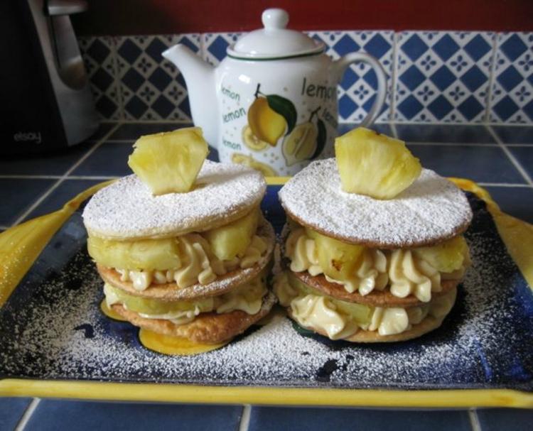 Recette de cuisine : Millefeuilles à l'ananas