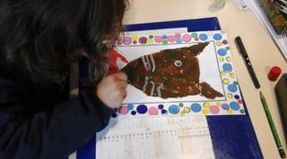Arts visuels - P'tit loup rentre à l'école