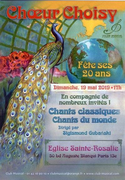 Les 20 ans du Choeur Choisy à l'église Sainte-Rosalie (Paris)