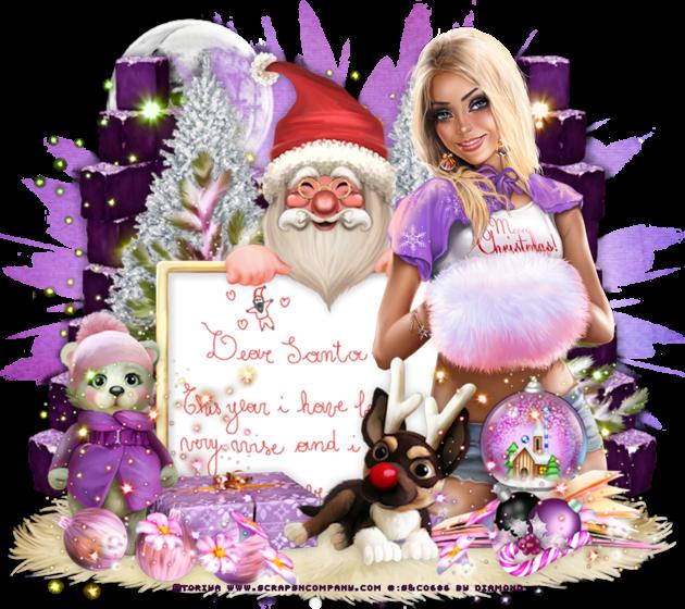 """Tutoriel """"Dear Santa"""" de Chrisje"""