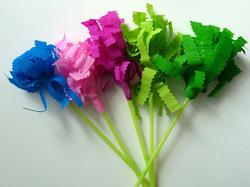 Bouquet de fleurs en papier crépon