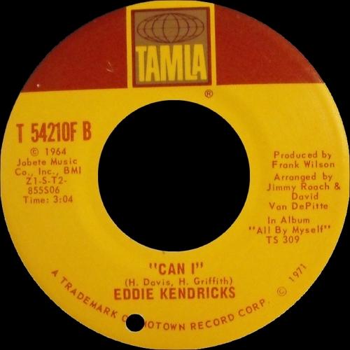 "Eddie Kendricks : Album "" All By Myself "" Tamla Records TS-309 [ US ]"