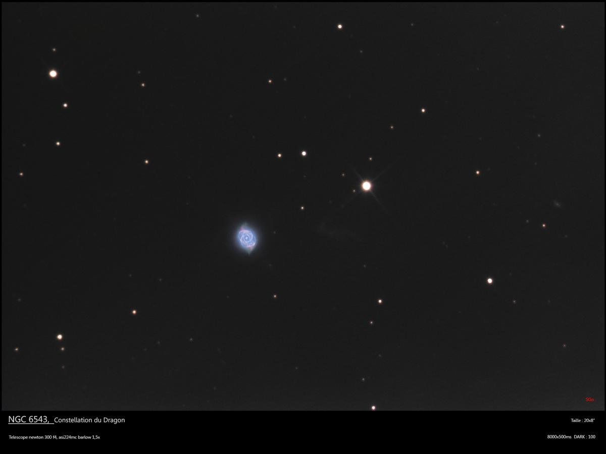 NGC 6543, nebuleuse de l'oeil du chat