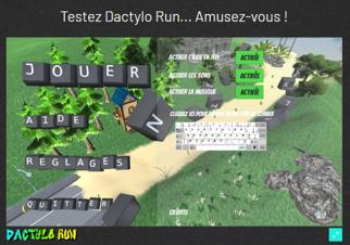 Dactylo Run : nouveau jeu pour l'apprentissage du clavier