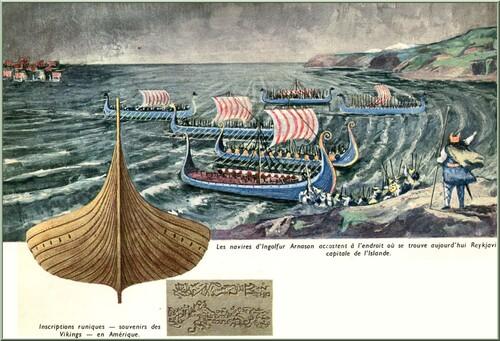 Ces beaux livres anciens : 6 Illustration extraite du livre  L'homme et l'océan