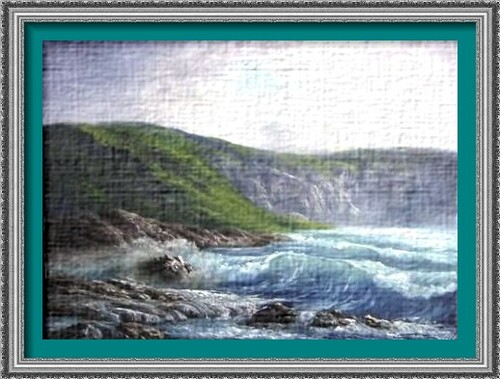 Dessin et peinture - vidéo 2254 : La côte accidentée à la peinture à l'huile ou acrylique.