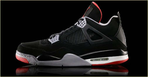 Air Jordan IV Black/Cement Grey-Fire Red Retro 2012