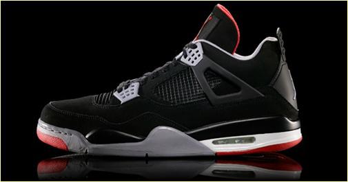 Air Jordan IV Black/Cement Grey-Fire Red Retro 2012
