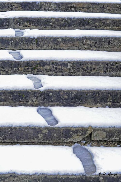 Jean-Pierre Gurga a photographié admirablement Châtillon sous la neige....