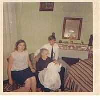 Ma mémé marthe- maman  de maman Stéphane à son baptème