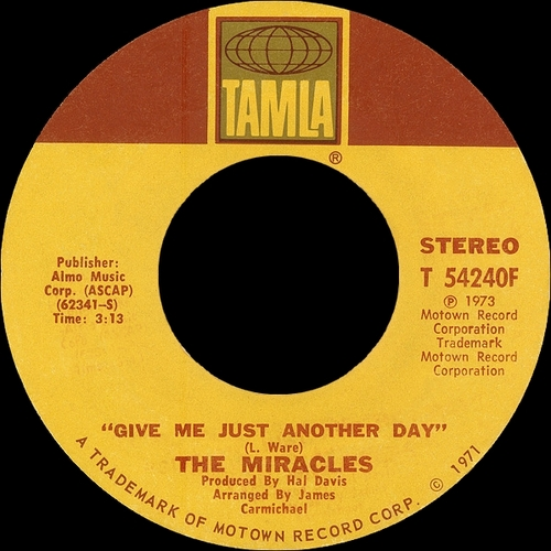 "The Miracles : Album "" Renaissance "" Tamla Records T 325L [ US ]"