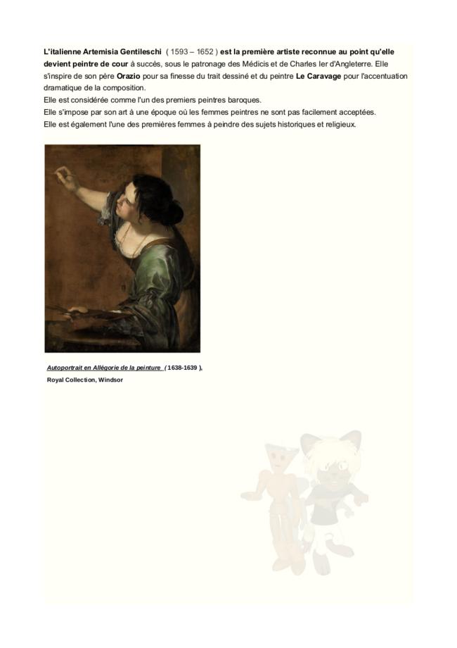 brève histoire du statut des femmes dans les arts