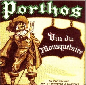 Etiquette vin Porthos