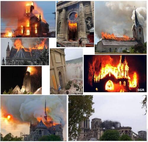 En 10 mois, ce sont 11 édifices chrétiens qui ont brûlé en France