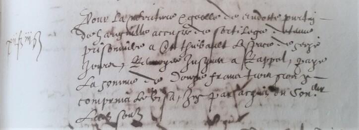 Harréville, fait divers en 1607